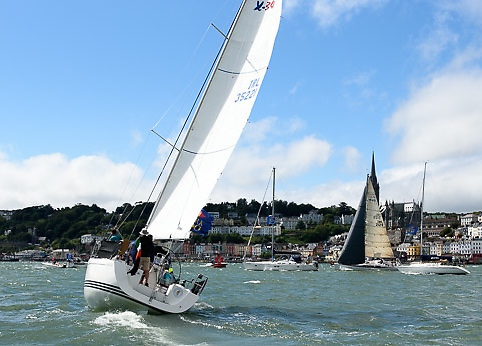 "RCYC core members head for the ""Admirals Chace"" in Cork Harbour"