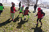 The AYSO youth soccer league practiced Sunday afternoon in Jackson Park.<br /> <br /> 7599 &ndash; Kids participate in a scrimmage. <br /> <br /> Please 'Like' &quot;Spencer Bibbs Photography&quot; on Facebook.<br /> <br /> All rights to this photo are owned by Spencer Bibbs of Spencer Bibbs Photography and may only be used in any way shape or form, whole or in part with written permission by the owner of the photo, Spencer Bibbs.<br /> <br /> For all of your photography needs, please contact Spencer Bibbs at 773-895-4744. I can also be reached in the following ways:<br /> <br /> Website &ndash; www.spbdigitalconcepts.photoshelter.com<br /> <br /> Text - Text &ldquo;Spencer Bibbs&rdquo; to 72727<br /> <br /> Email &ndash; spencerbibbsphotography@yahoo.com