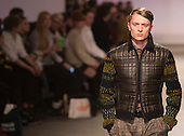 Tuesday, 8 January 2013. London, United Kingdom. Designer James Long shows his Autumn/Winter 2013 collection at a catwalk show during London Collections: Men. Menswear fashion event which used to be part of London Fashion Week. Photo credit: CatwalkFashion/Alamy Live News