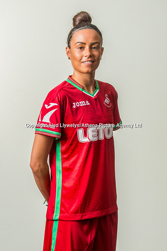 Wedensday 26 July 2017<br /> Pictured: Alicia Powe<br /> Re: Swansea City Ladies Squad 2017- 2018 at the Liberty Stadium, Wales, UK