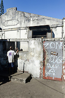 MADAGASCAR, Mananjary, prison, door ZONE ROUGE - red zone / MADAGASKAR, Mananjary, Gefaengnis