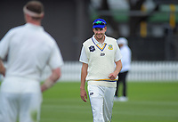 Otago's Jacob Duffy on day one of the Plunket Shield cricket match between the Wellington Firebirds and Otago Volts at Basin Reserve in Wellington, New Zealand on Monday, 21 October 2019. Photo: Dave Lintott / lintottphoto.co.nz