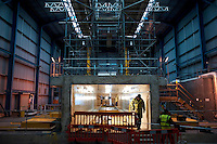 UK. Berlely. 7th December 2010..Berkely's nuclear waste store, under construction..©Andrew Testa/Panos for the Sunday Times Magazine..