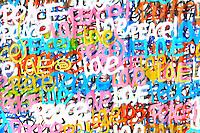 love & peace graffiti in wynwood miami