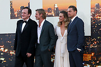 """LOS ANGELES - JUL 22:  Quentin Tarantino, Brad Pitt, Margot Robbie, Leonardo DiCaprio at the """"Once Upon a Time in Hollywood"""" Premiere at the TCL Chinese Theater IMAX on July 22, 2019 in Los Angeles, CA"""