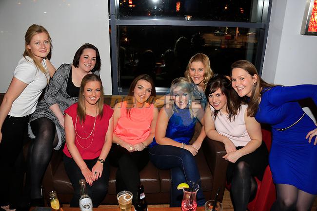 Lynn Aspen, Helen McDonald, Nicki Traynor Elaine Coombes, Sharon Traynor, Christine Sullivan, Eimear kelleher, Ailise Ronan special Hen night<br /> Picture: www.newsfile.ie