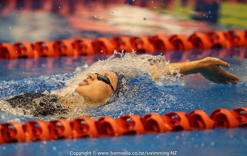 Gina McCarthy. Swimming New Zealand Aon National Age Group Championships, Wellington Regional Aquatic Centre, Wellington, New Zealand, Friday 19 April 2019. Photo: Simon Watts/www.bwmedia.co.nz