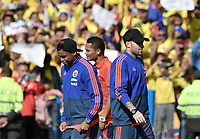 BOGOTA - COLOMBIA, 05-07-2018: Luis MURIEL, Carlos BACCA, David OSPINA jugadores de la Selección Colombia de fútbol reciben un homenaje hoy, 05 de julio de 2018, después de su participación en la Copa Mundial de la FIFA Rusia 2018. El acto tuvo lugar een el estadio Nemesio Camacho El Campín de la ciudad de Bogotá / Luis MURIEL, Carlos BACCA, David OSPINA players of Colombia national soccer team receives tribute today, July 5, 2018, after its participation in the FIFA World Cup Russia 2018. The event took place at Nemesio Camacho El Campin stadium in Bogota city. Photo: VizzorImage / Gabriel Aponte / Staff