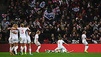 9th November 2019; Wembley Stadium, London, England; International Womens Football Friendly, England women versus Germany women; Ellen White of England celebrates with her team on scoring in 45th minute to bring the scores level 1-1 - Editorial Use