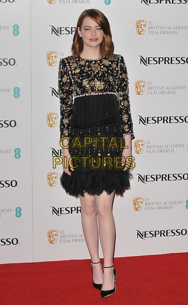 Emma Stone at the Nespresso pre-BAFTAs Nominees' Party, Kensington Palace, Kensington Gardens, London, England, UK, on Saturday 11 February 2017.<br /> CAP/CAN<br /> &copy;CAN/Capital Pictures