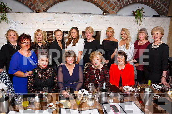 Michelle King seated second from the right celebrating her birthday in the Croi restaurant on Saturday night with her family and friends, seated l to r, are sister, Moira King Fitzgerald, Birthday girl Michelle King, her Mom Peg King and sister, Breda Callaghan