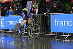Luke Durbridge (AUS) Orica-Scott in action during Stage 1, a 14km individual time trial around Dusseldorf, of the 104th edition of the Tour de France 2017, Dusseldorf, Germany. 1st July 2017.<br /> Picture: Eoin Clarke | Cyclefile<br /> <br /> <br /> All photos usage must carry mandatory copyright credit (&copy; Cyclefile | Eoin Clarke)