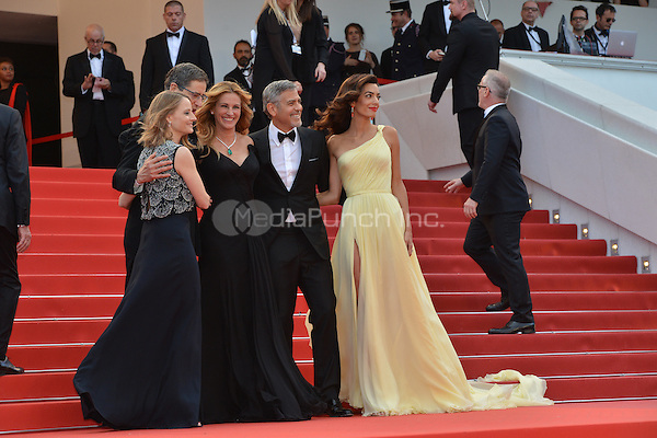 Jodie Forster, Julia Roberts, George Clooney and his wife Amal at the &acute;Money Monster` screening during The 69th Annual Cannes Film Festival on May 12, 2016 in Cannes, France.<br /> CAP/LAF<br /> &copy;Lafitte/Capital Pictures<br /> Jodie Forster, Julia Roberts, George Clooney and his wife Amal at the &yen;Money Monster` screening during The 69th Annual Cannes Film Festival on May 12, 2016 in Cannes, France.<br /> CAP/LAF<br /> &copy;Lafitte/Capital Pictures /MediaPunch ***NORTH AND SOUTH AMERICA ONLY***