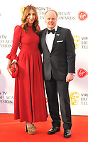Clara Francis and Jason Watkins at the Virgin TV British Academy (BAFTA) Television Awards 2018, Royal Festival Hall, Belvedere Road, London, England, UK, on Sunday 13 May 2018.<br /> CAP/CAN<br /> &copy;CAN/Capital Pictures