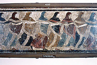 Greek Art:  Funeral Dance, tome fresco.  National Museum. Naples.