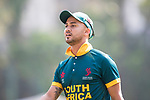 Aubrey Swanepoel of South Africa looks on during Day 1 of Hong Kong Cricket World Sixes 2017 Group A match between South Africa vs Pakistan at Kowloon Cricket Club on 28 October 2017, in Hong Kong, China. Photo by Yu Chun Christopher Wong / Power Sport Images