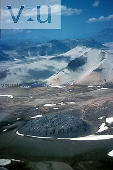 Volcanic plug or neck. Katmai National Park, Alaska