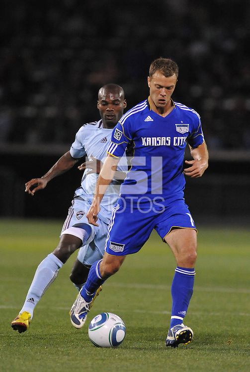 Jack Jewsbury, Omar Cummings...Kansas City Wizards defeated Colorado Rapids 1-0 at Community America Ballpark, Kansas City, Kansas.