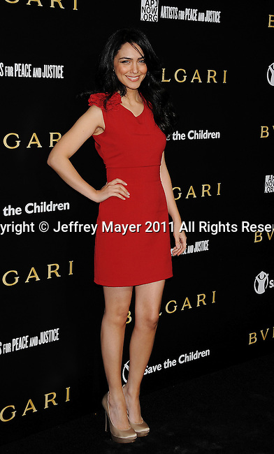 LOS ANGELES, CA - January 13: Nazaleen attends Save The Children's U.S. Programs And Artists For Peace And Justice Hosted By Bulgari at Ron Burkle's Green Acres Estate on January 13, 2011 in Beverly Hills, California.