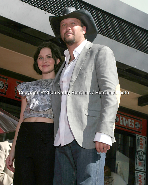 Tim McGraw.Tim McGraw receives Star on the Walk of Fame.Hollywood & Highland.Los Angeles, CA.October 17, 2006.©2006 Kathy Hutchins / Hutchins Photo....                 Tim McGraw & Alison Lohman.Tim McGraw receives Star on the Walk of Fame.Hollywood & Highland.Los Angeles, CA.October 17, 2006.©2006 Kathy Hutchins / Hutchins Photo....
