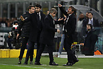 Antonio Conte Head coach of Inter vents his anger towards referee Gianapolo Calvarese as Team manager Matteo Tagliacarne and First Team technical manager Gabriele Oriali during the Coppa Italia match at Giuseppe Meazza, Milan. Picture date: 12th February 2020. Picture credit should read: Jonathan Moscrop/Sportimage