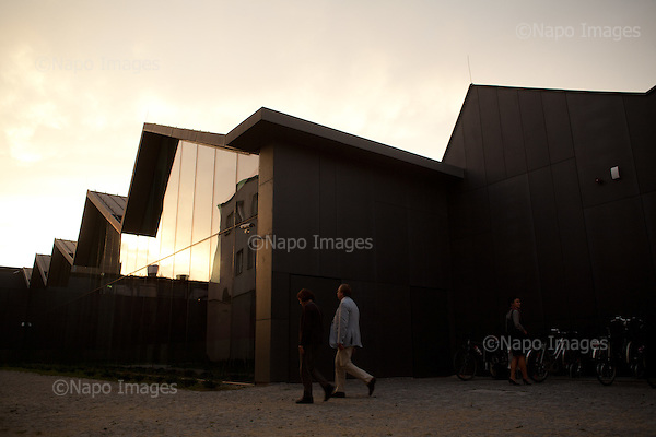 KRAKOW, POLAND, SEPTEMBER 13, 2011:.View of  MOCAK, Museum of Contemporary Art in Krakow, opened in May 2011..(Photo by Piotr Malecki / Napo Images) ..KRAKOW, 9/2011:.MOCAK, Muzeum Sztuki Wspolczesnej w Krakowie..Fot: Piotr Malecki / Napo Images