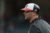Oregon State Beavers assistant coach Andy Jenkins during a game against the New Mexico Lobos on February 15, 2019 at Surprise Stadium in Surprise, Arizona. Oregon State defeated New Mexico 6-5. (Zachary Lucy/Four Seam Images)