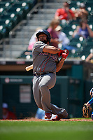 Lehigh Valley IronPigs Deivy Grullon (17) at bat during an International League game against the Buffalo Bisons on June 9, 2019 at Sahlen Field in Buffalo, New York.  Lehigh Valley defeated Buffalo 7-6 in 11 innings.  (Mike Janes/Four Seam Images)