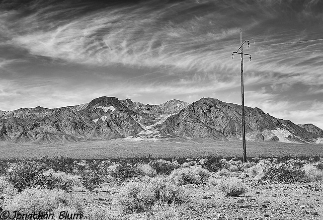 On the Road to Death Valley, Nevada-California State Line