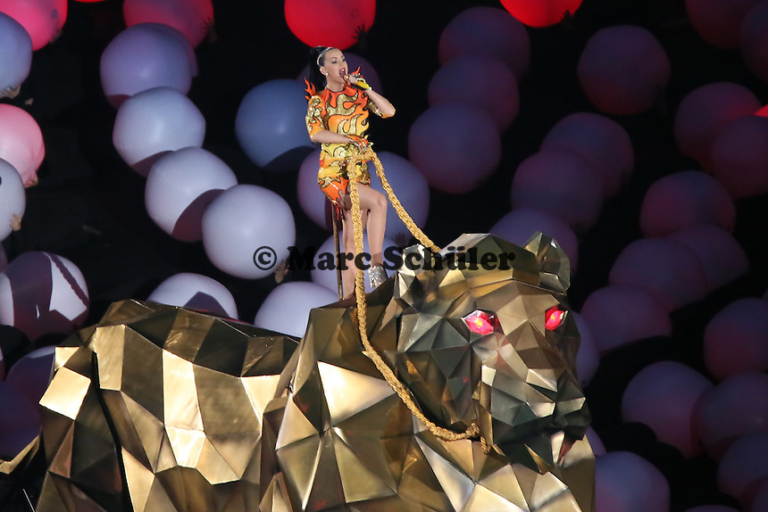 Halbzeitshow mit Katy Perry - Super Bowl XLIX, Seattle Seahawks vs. New England Patriots, University of Phoenix Stadium, Phoenix