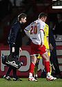 Chris Beardsley of Stevenage leaves injured. - Stevenage v Colchester United - npower League 1 - Lamex Stadium, Stevenage - 20th March, 2012. © Kevin Coleman 2012