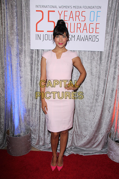 BEVERLY HILLS, CA - OCTOBER 28: Hannah Simone at the 25th Annual Courage In Journalism Awards in Beverly Hills, California on October 28, 2014.  <br /> CAP/MPI/DC/DE<br /> &copy;DE/DC/MediaPunch/Capital Pictures
