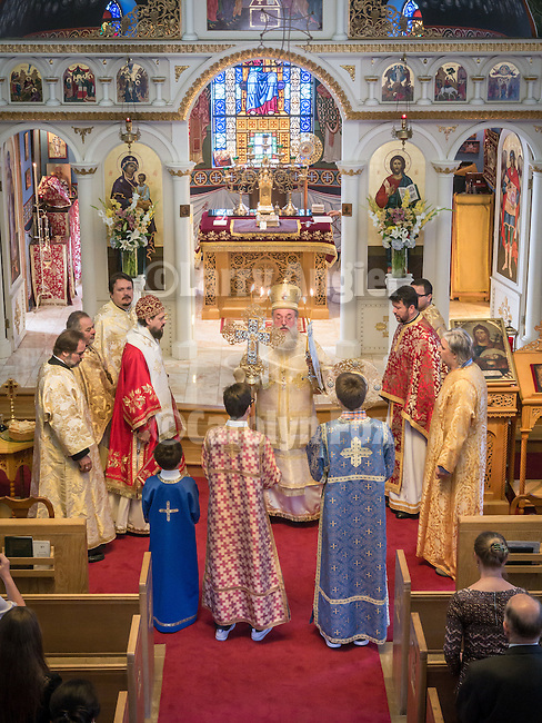 60th anniversary of the consecration of St. John the Baptist Serbian Orthodox Cathedral, San Francisco, Calif.<br /> <br /> Bishops Maxim and Longin