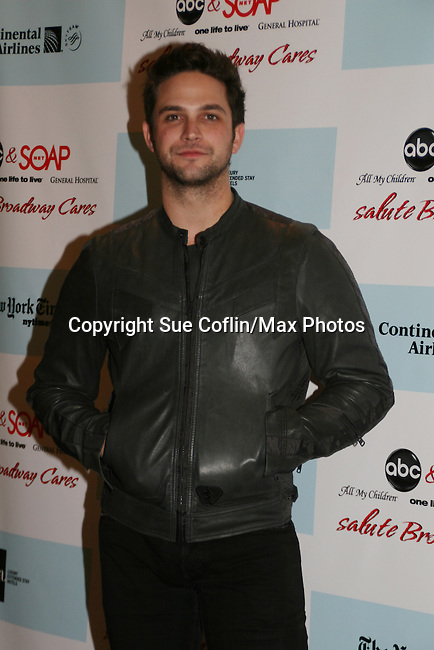 General Hospital's Brandon Barash at  the after party of ABC and SOAPnet's Salutes to Broadway Cares/Equity Fights Aids on March 9, 2009 at the New York Marriott Marquis, New York, NY.  (Photo by Sue Coflin/Max Photos)