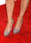 "HOLLYWOOD, CA. - July 16: Bree Turner's shoes at the Los Angeles premiere of ""The Ugly Truth"" held at the Pacific's Cinerama Dome on July 16, 2009 in Hollywood, California."