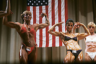 New York, June 20, 1981. From left to right Iavon Vajakas and Valerie Mayers at Ms. Empire State competition.