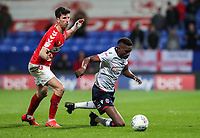 Bolton Wanderers' Sammy Ameobi competing with Middlesbrough's Daniel Ayala <br /> <br /> Photographer Andrew Kearns/CameraSport<br /> <br /> The EFL Sky Bet Championship - Bolton Wanderers v Middlesbrough -Tuesday 9th April 2019 - University of Bolton Stadium - Bolton<br /> <br /> World Copyright © 2019 CameraSport. All rights reserved. 43 Linden Ave. Countesthorpe. Leicester. England. LE8 5PG - Tel: +44 (0) 116 277 4147 - admin@camerasport.com - www.camerasport.com