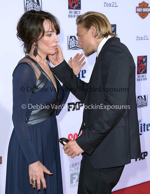 Charlie Hunnam, Katey Sagal attends  FX's SONS OF ANARCHY Premiere Screening held at The TCL Chinese Theatre  in Hollywood, California on September 06,2014                                                                               © 2014 Hollywood Press Agency