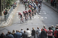 Team Lotto-Soudal leading the peloton up the steep Wijnpersstraat <br /> <br /> GP Jef Scherens - Leuven 2016
