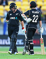 Blackcaps Tom Latham reacts as he is given out during the third ODI cricket match between the Blackcaps & England at Westpac stadium, Wellington. 3rd March 2018. © Copyright Photo: Grant Down / www.photosport.nz