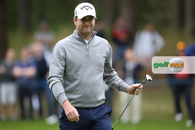 Marc Warren (SCO) during Round Two of the 2015 BMW PGA Championship over the West Course at Wentworth, Virginia Water, London. 22/05/2015Picture David Lloyd, www.golffile.ie.