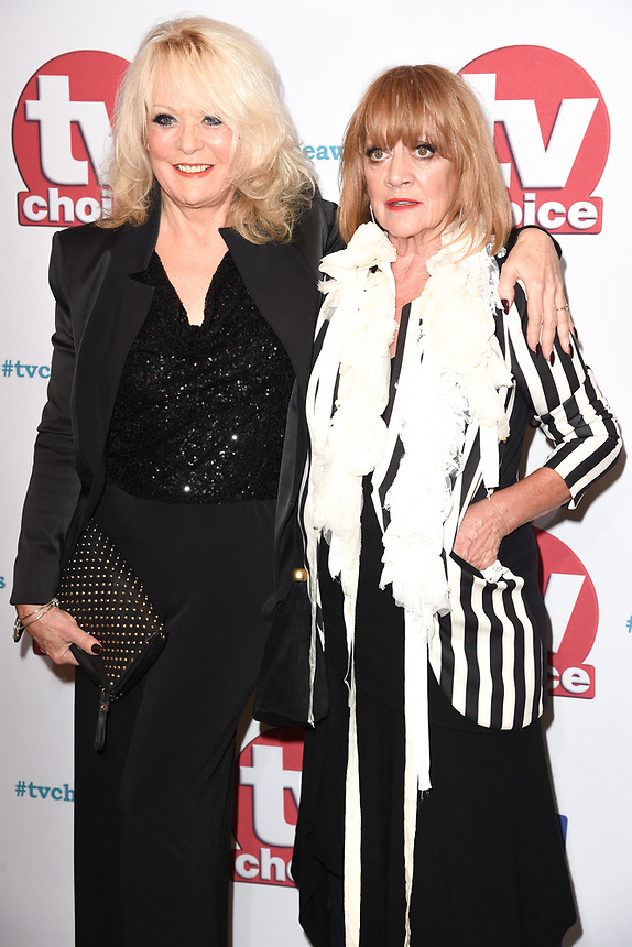 Sherrie Hewson and Amanda Barrie<br /> arriving for the TV Choice Awards 2017 at The Dorchester Hotel, London. <br /> <br /> <br /> ©Ash Knotek  D3303  04/09/2017