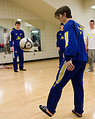Jacob Josefson (Sweden - 26) - Members of Team Sweden worked out at the Urban Plains Center in Fargo, North Dakota, on Friday, April 17, 2009, during the 2009 World Under 18 Championship.