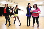 Jessica Keenan Wynn, Elle McLemore, Barrett Wilbert Weed and Katie Ladner  performing at the Open Press Rehearsal for 'Heathers The Musical' on February 19, 2014 at The Snapple Theatre Center in New York City.