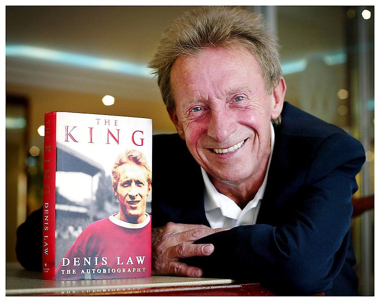"Former Scottish and Manchester United Legend Denis Law, pictured here in Dublin promoting his autobiography ""The King"". Pic. Robbie Reynolds."