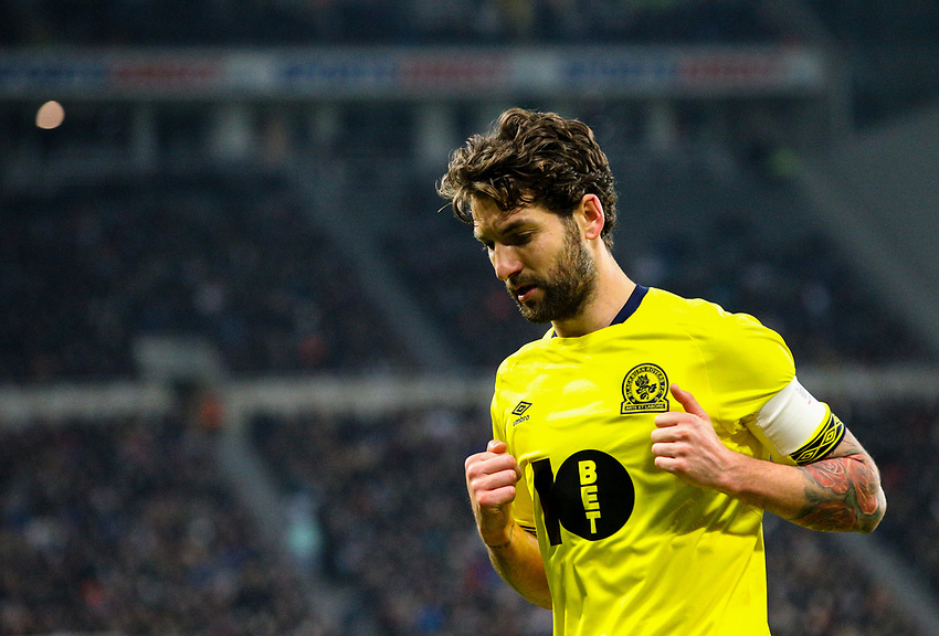 Blackburn Rovers' Charlie Mulgrew<br /> <br /> Photographer Alex Dodd/CameraSport<br /> <br /> Emirates FA Cup Third Round - Newcastle United v Blackburn Rovers - Saturday 5th January 2019 - St James' Park - Newcastle<br />  <br /> World Copyright © 2019 CameraSport. All rights reserved. 43 Linden Ave. Countesthorpe. Leicester. England. LE8 5PG - Tel: +44 (0) 116 277 4147 - admin@camerasport.com - www.camerasport.com