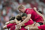 The Canadian team celebrates winning the match United States vs Canada, the Cup Final of the HSBC Singapore Rugby Sevens as part of the World Rugby HSBC World Rugby Sevens Series 2016-17 at the National Stadium on 16 April 2017 in Singapore. Photo by Victor Fraile / Power Sport Images