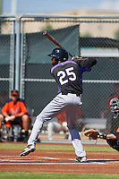 Colorado Rockies Wes Rogers (25) during an instructional league game against the San Francisco Giants on October 7, 2015 at the Giants Baseball Complex in Scottsdale, Arizona.  (Mike Janes/Four Seam Images)
