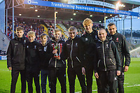 Lincoln City Youth Academy's under 16 side parade the national trophy they won recently around the pitch at half time<br /> <br /> Photographer Chris Vaughan/CameraSport<br /> <br /> The EFL Sky Bet League Two - Lincoln City v Newport County - Saturday 22nd December 201 - Sincil Bank - Lincoln<br /> <br /> World Copyright © 2018 CameraSport. All rights reserved. 43 Linden Ave. Countesthorpe. Leicester. England. LE8 5PG - Tel: +44 (0) 116 277 4147 - admin@camerasport.com - www.camerasport.com