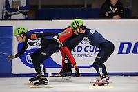 SCHAATSEN: DORDRECHT: Sportboulevard, Korean Air ISU World Cup Finale, 10-02-2012, Relay Men, Semen Elistratov RUS (68), Vladimir Grigorev RUS (72), ©foto: Martin de Jong